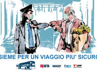 Viaggi più sicuri: al via la campagna congiunta di Seta, Tper, Start Romagna e Tep