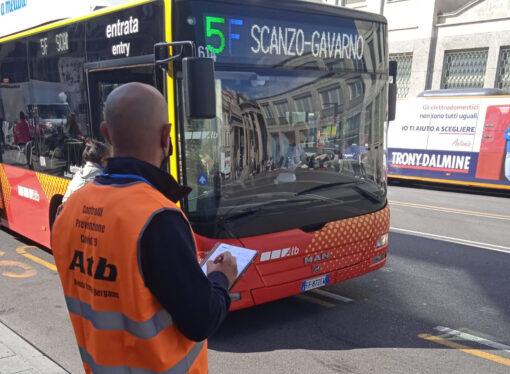 Bergamo: controlli delle norme antiCovid sui mezzi ATB e TEB